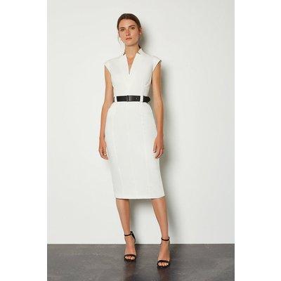 Karen Millen Forever Cap Sleeve Dress, Ivory