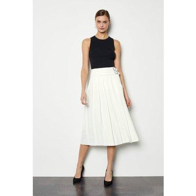 Wrap Pleat Skirt Ivory, Ivory