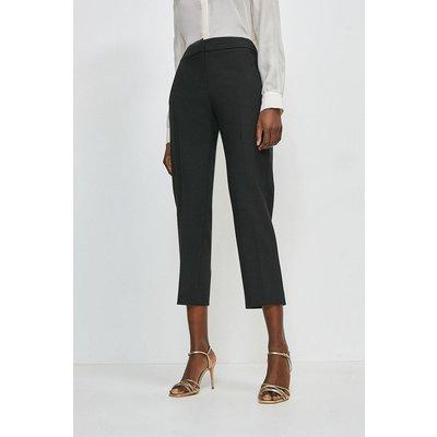 Karen Millen Compact Stretch Tailored Trousers -, Black