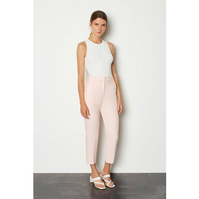 Karen Millen Compact Stretch Tailored Trousers -, Pink