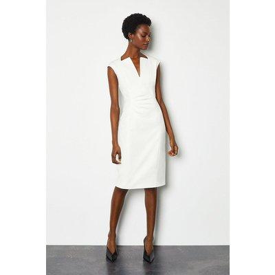 Karen Millen Envelope Neck Dress, Ivory