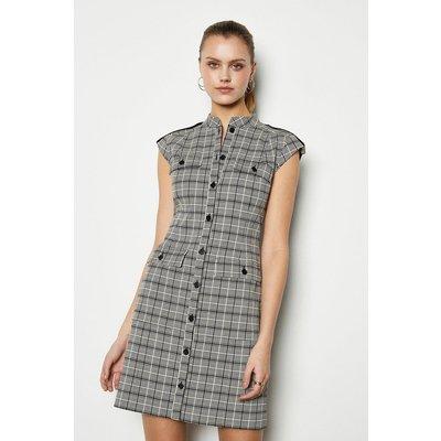 Karen Millen Graphic Jacquard Dress, Blackwhite