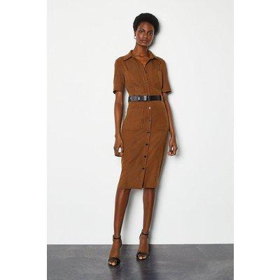 Karen Millen Utility Shirt Dress, Orange