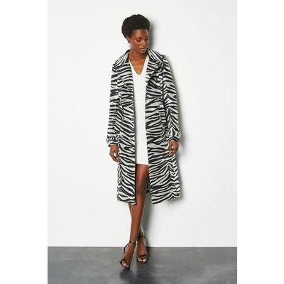 Karen Millen Zebra Belted Trench Coat, Animal