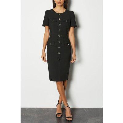 Karen Millen Utility Dress, Black