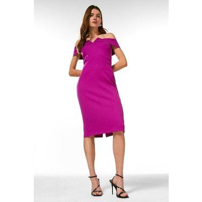 Karen Millen Forever Bardot Pencil Dress -, Purple