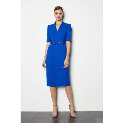 Karen Millen Forever Cinch Waist Pencil Dress, Blue