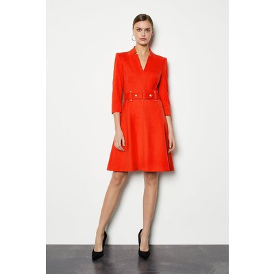 Forever Cinch Waist A-Line Dress Red, Red