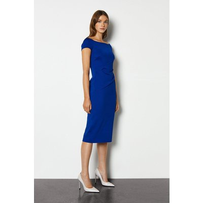 Karen Millen Highline Bardot Dress, Blue