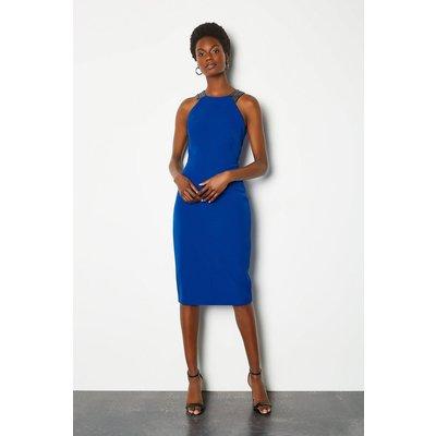 Jewelled Strap Dress Blue, Blue