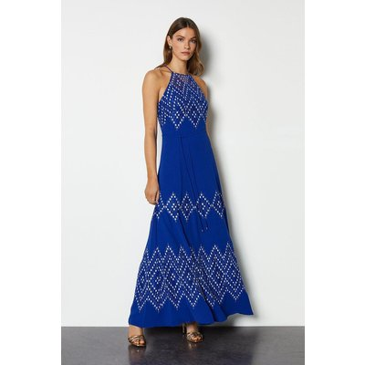 Diamond Lace Dress Blue, Blue