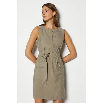 Soft Utility Dress Brown, Brown