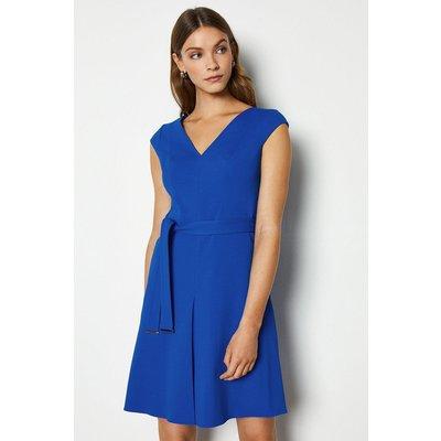 Karen Millen Compact Jersey Day Dress, Blue