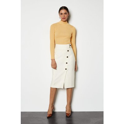 Sleek And Sharp Skirt Ivory, Ivory