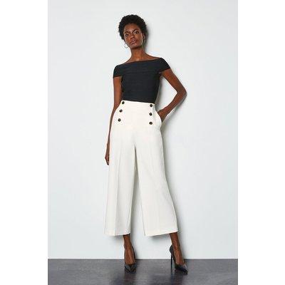 Sleek And Sharp Trousers Ivory, Ivory