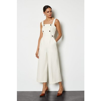 Sleek and Sharp Jumpsuit Ivory, Ivory