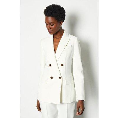 Sleek And Sharp Jacket Ivory, Ivory