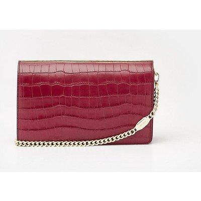 Metal Bar Shoulder Bag Berry, Red