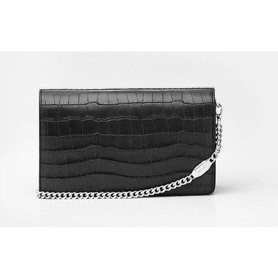 Metal Bar Shoulder Bag Black, Black