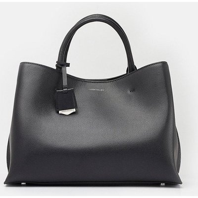 Simple Leather Grab Bag Black, Black