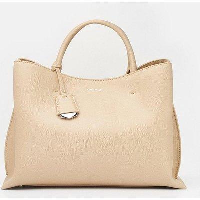 Simple Leather Grab Bag Natural, Natural