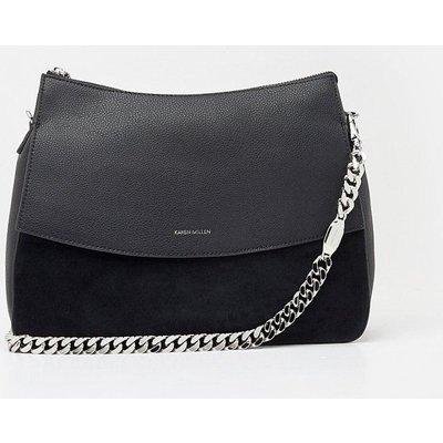 Regent Suede Shoulder Bag Black, Black