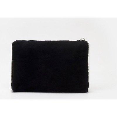 Metal Side Detail Clutch Black, Black