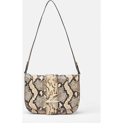 Metal Bar Detail Shoulder Bag Animal, Animal