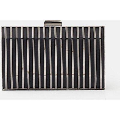 Caged Clutch Black, Black