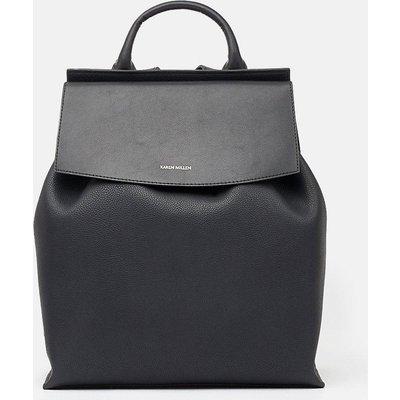 Leather Backpack Black, Black