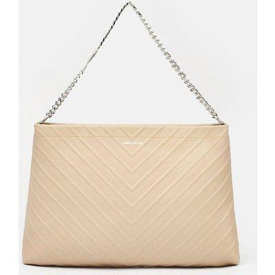 Karen Millen Chevron Shoulder Bag, Natural