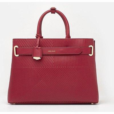 Karen Millen Deboss Grab Bag, Red