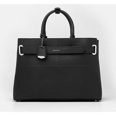 Karen Millen Deboss Grab Bag, Black