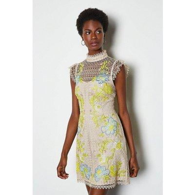 Karen Millen Chemical Lace Dress, Nude