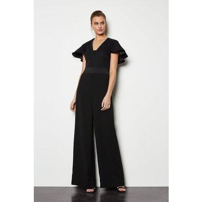 Sculpted Sleeve Jumpsuit Black, Black