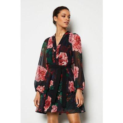 Karen Millen Rose Print Dress, Multi