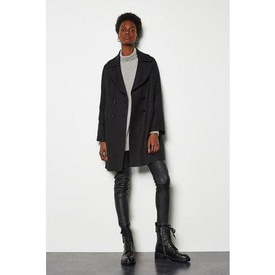 Twill Pod Coat Black, Black