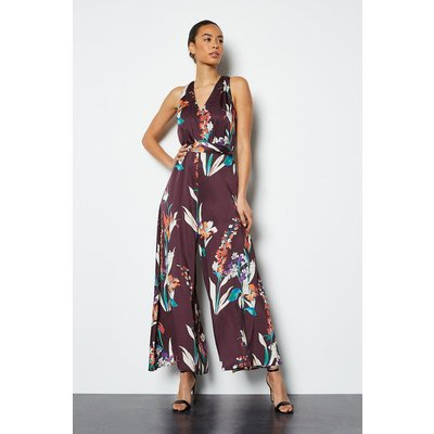 Watercolour Printed Jumpsuit Red, Red