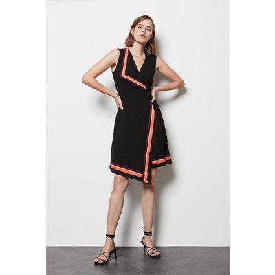 Stripe Border Print Dress Multi, Multi