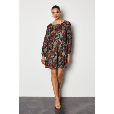 Karen Millen Floral Tunic Kaftan Dress, Multi