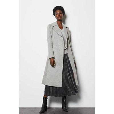 Long Wrap Coat Grey, Grey