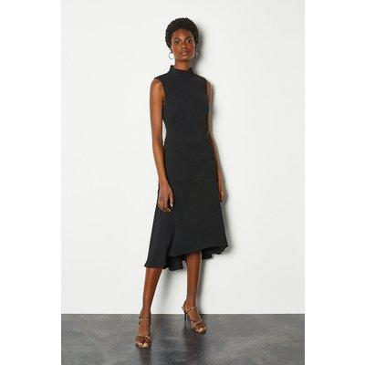 New Midi Day Dress Black, Black