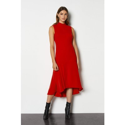 New Midi Day Dress Red, Red