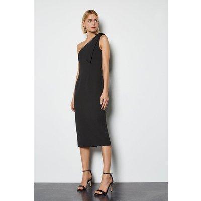 Karen Millen Bow Detail Midi Dress, Black