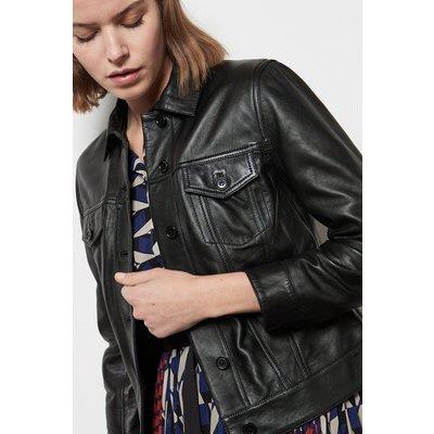 Western Leather Jacket Black, Black