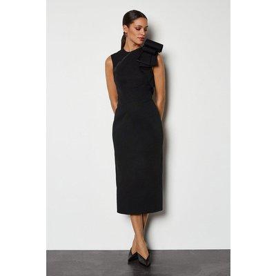 Karen Millen Origami Shoulder Dress, Black