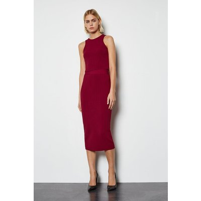 Midi bandage pencil skirt Red, Red