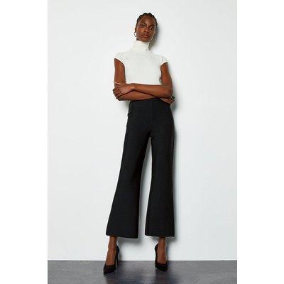 Karen Millen Slim Boot Cut Trousers, Black