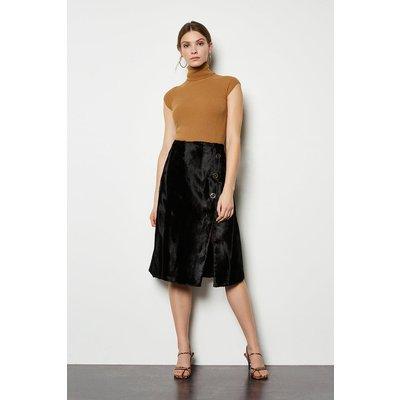 Pony Wrap Skirt Black, Black