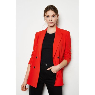 Karen Millen Soft TailoDouble Breasted Jacket, Red